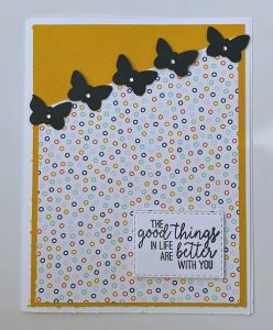 butterfly punch card idea