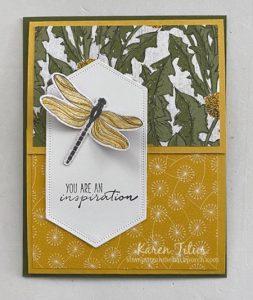 dragonfly fun fold card