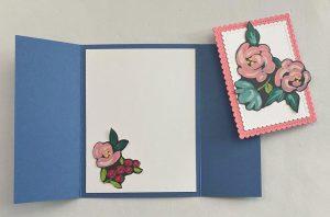 fine art floral designer series paper card
