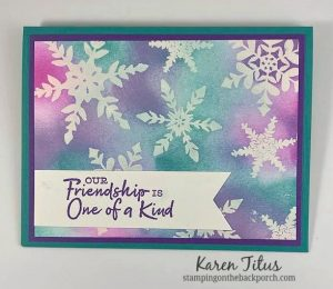 snowflake card with emboss resist technique