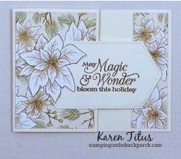 poinsettia gift card holder