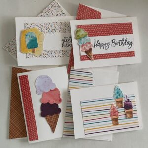 four quick & easy ice cream cards