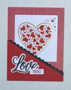 tuck in valentine card