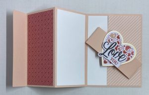 trifold card valentine