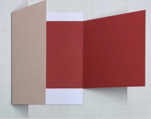 double fold valentine card
