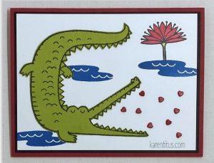 Oh Snap Crocodile Card