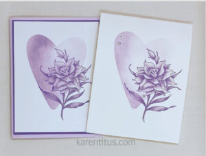 soft floral card with blending brushes