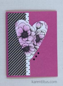 blending brushes on designer series paper