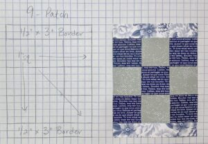 template for a pocket quilt card