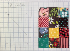 template for quilt card