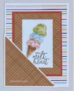 ice cream corner pocket card