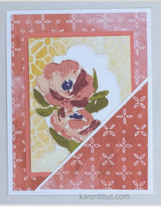 fine art floral pocket card