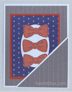 masculine pocket card with well suited