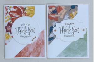 quick & easy patterned paper cards