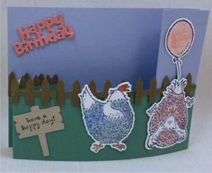 hey chicks & hey birthday chicks stampin up