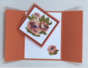 fine art floral fun fold card