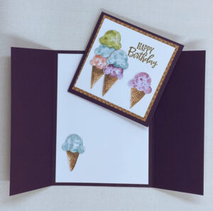ice cream corner slide and lock card
