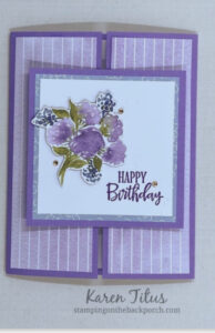 hydrangea fun fold slide and lock card