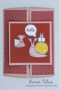 snail mail slide and lock fun fold card