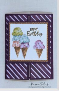 ice cream fun fold card tutorial