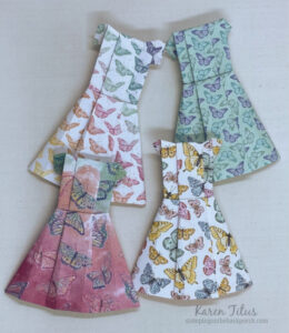 how to make origami paper dresses
