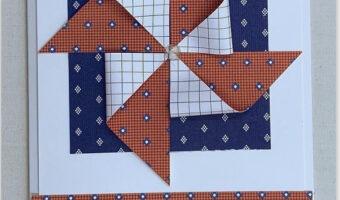 masculine pinwheel card