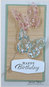 spring cards with butterflies