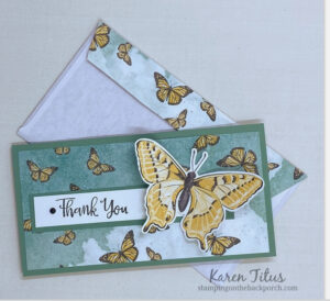 Butterfly Brilliance Slimline card with envelope
