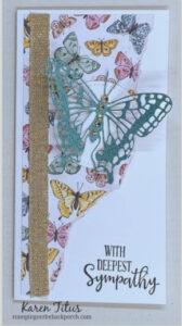 butterfly bijou designer series paper card