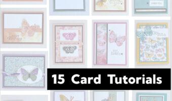 Butterfly Bouquet 15 card tutorials