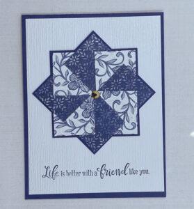 pinwheel card in black and white