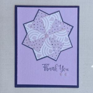 thank you pinwheel card