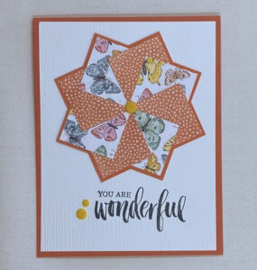 easy to make butterfly pinwheel card