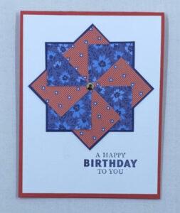 birthday card pinwheel technique