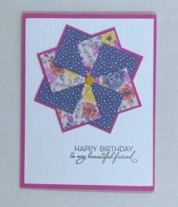 super easy pinwheel card