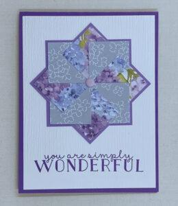 designer series paper pinwheel cards