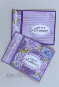 book binding cards with designer series paper