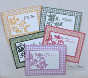 monochromatic floral cards