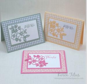 monochromatic card ideas