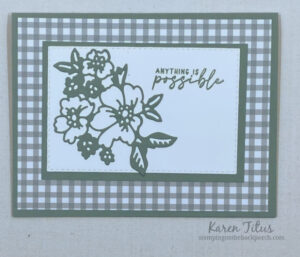 Hand penned stamping up card idea