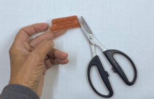 trimming rubber stamps