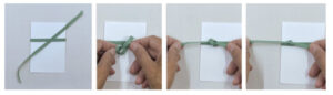how to tie a knot on a card