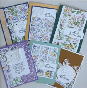6 easy card layouts with patterned paper