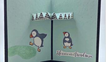 make an accordian umbrella card