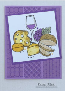 wine and cheese card stampin up