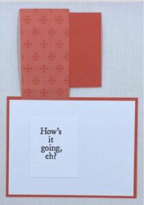 maple leaf fun fold card inside