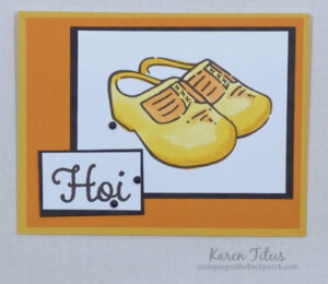 wooden shoes card stampin up