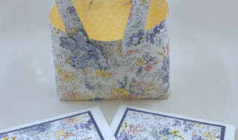 DIY Paper Tote Bag with Greeting Cards