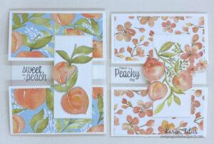 6 x 6 One Sheet Wonder cards You're a Peach
