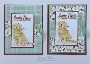 Tri Fold Cards with Sweet Stockings Designer Series Paper